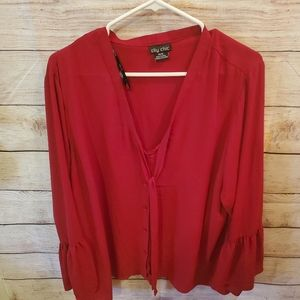 City Chic Red Shirt size 18